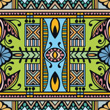 Vector geometric pattern with seamless texture. Tribal ethnic ornament Royalty Free Stock Images