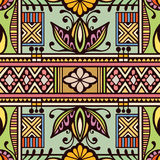 Vector geometric pattern with seamless texture. Tribal ethnic ornament Stock Photo