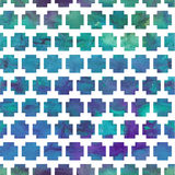 Vector geometric pattern with watercolor background Royalty Free Stock Image