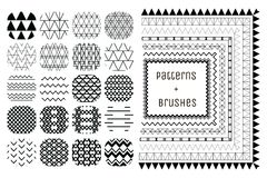 20 Vector Geometric Patterns and 7 Pattern Brushes Stock Photo