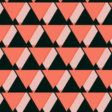 Vector geometric pink coral background. Mosaic. Abstract vector Illustration. Rhomb pattern triangle texture Royalty Free Stock Photo