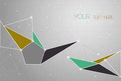 Vector geometric polygon background Royalty Free Stock Image