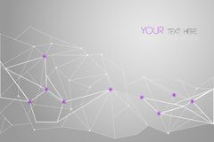 Vector geometric polygon background Stock Images