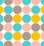 Vector geometric polygon seamless pattern. Vector retro geometric polygon illustration seamless texture Royalty Free Stock Images