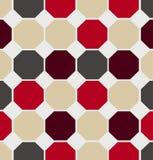 Vector geometric polygon seamless pattern. Vector retro geometric polygon illustration seamless texture Stock Image