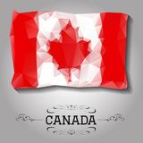Vector geometric polygonal Canada flag. Royalty Free Stock Photography