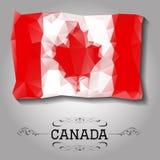 Vector geometric polygonal Canada flag. Stock Photo