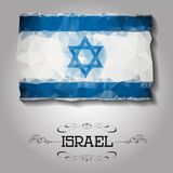 Vector geometric polygonal Israel flag. For your design Stock Photo