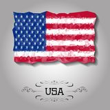 Vector geometric polygonal USA flag. Stock Image