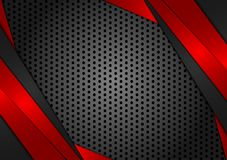 Vector geometric red and black abstract background. Texture design for your business vector illustration