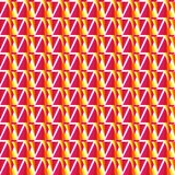 Vector geometric red seamless pattern Royalty Free Stock Photos