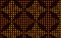 Pattern inside pattern effect in a vector golden brown geometric repeating pattern Stock Images
