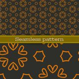 Vector geometric seamless pattern Stock Image