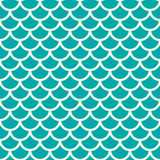 Vector geometric seamless pattern, abstract endless composition. Created with overlay circular shapes. Fish scale theme colorful background Royalty Free Stock Photography