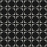 Vector geometric seamless pattern. Delicate black and white mosaic texture. Vector geometric ornament. Seamless pattern in oriental style. Delicate mosaic Vector Illustration
