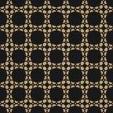 Vector geometric seamless pattern. Delicate gold anb black mosaic texture. Vector geometric ornament. Seamless pattern in oriental style. Delicate golden mosaic Royalty Free Stock Photos