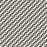 Vector geometric seamless pattern with diagonal grid, lattice, ovals. Vector geometric seamless pattern with diagonal grid, lattice, curved shapes, ovals Royalty Free Stock Image