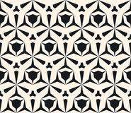 Vector geometric seamless pattern with edgy triangular shapes. Vector geometric seamless pattern with edgy triangular shapes, hexagonal grid. Simple abstract Royalty Free Stock Images