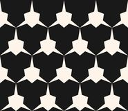 Vector geometric seamless pattern with edgy triangular shapes. Simple abstract monochrome ornament texture. Modern geometrical repeat background. Dark design Stock Photo