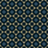 Vector geometric seamless pattern. Folk ornament. Black, blue and yellow colors. Vector geometric seamless pattern. Traditional folk ornament. Texture with small royalty free illustration