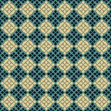 Vector geometric seamless pattern. Folk ornament. Black, green and yellow colors. Vector geometric seamless pattern. Traditional folk ornament. Texture with royalty free illustration