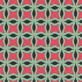 Vector geometric seamless pattern. Green and red geometric seamless pattern stock illustration