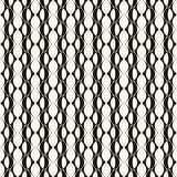 Vector geometric seamless pattern with grid, lattice. Vector geometric seamless pattern with grid, lattice, rounded geometrical shapes, ovals. Abstract black & Stock Images