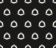 Vector geometric seamless pattern with hollow diamond shapes, angular hexagonal figures. Simple abstract monochrome background texture, repeat tiles. Dark royalty free illustration