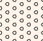 Vector geometric seamless pattern with hollow diamond shapes, angular hexagonal figures. Simple abstract monochrome background. Modern geometrical texture Stock Photography