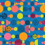 Vector geometric seamless pattern with living coral, color of the year vector illustration