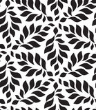 Vector geometric seamless pattern. Modern floral, leaves texture Stock Photography