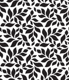 Vector geometric seamless pattern. Modern floral, leaves texture Stock Photo