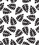 Vector geometric seamless pattern. Modern floral, leaves texture Royalty Free Stock Images