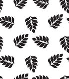 Vector geometric seamless pattern. Modern floral, leaves texture Royalty Free Stock Photography