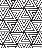 Vector geometric seamless pattern. Modern triangle texture, repe Royalty Free Stock Image