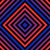 Vector geometric seamless pattern with red and blue neon lines, rhombuses. Vector geometric seamless pattern with colorful diagonal lines, rhombuses. Abstract vector illustration