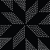 Vector geometric seamless pattern. Repeating abstract dots Royalty Free Stock Images