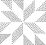 Vector geometric seamless pattern. Repeating abstract dots Stock Image