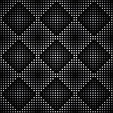 Vector geometric seamless pattern. Repeating abstract square gradation in black and grey. Stock Photography