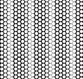 Vector geometric seamless pattern. Repeating texture with circles. Monochromatic simple graphic backround  Royalty Free Stock Images