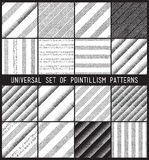 Vector geometric seamless pattern set. Repeating striped line ab Royalty Free Stock Images