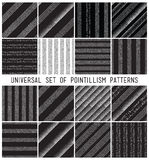Vector geometric seamless pattern set. Repeating striped line ab Royalty Free Stock Photography
