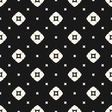 Vector geometric seamless pattern with squares, rhombuses. Royalty Free Stock Images