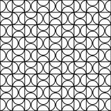 Vector geometric seamless pattern - simple mosaic design.  Royalty Free Stock Image