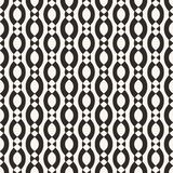 Vector geometric seamless pattern with smooth ovate shapes, chains, ropes vector illustration