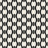Vector geometric seamless pattern with smooth shapes, chains, ovals, triangles. Vector geometric seamless pattern with smooth wavy shapes, chains, ovals Stock Photo