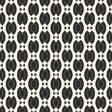 Vector geometric seamless pattern with smooth shapes, chains, ovals, triangles. Vector geometric seamless pattern with smooth wavy shapes, chains, ovals Stock Photography