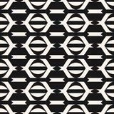 Vector geometric seamless pattern in traditional ethnic style. Tribal folk motif. Black and white ornament with lines, stripes, mesh. Abstract monochrome vector illustration