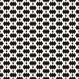 Vector geometric seamless pattern in traditional ethnic style. Tribal folk motif. Black and white ornament with small rhombuses, diamonds, grid, net. Abstract vector illustration