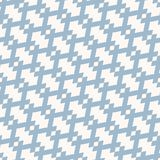 Vector geometric seamless pattern in traditional ethnic style. Tribal folk motif. Blue and white ornament texture with rhombuses, diagonal grid, mesh. Abstract royalty free illustration